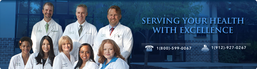 SERVING YOUR HEALTH WITH EXCELLENCE; CALL US NOW! PHONE: 800-599-0067 FAX: 912-927-O267